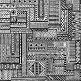 Etniczny bezszwowy ornament Zentangle wzór ilustracja wektor