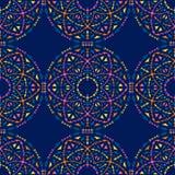 Etniczny bezszwowy wzór z plemiennymi ornamentami Boho geometrical wzór Jaskrawi kolory royalty ilustracja