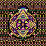Etniczny deseniowy żółw Zdjęcie Stock