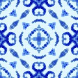 etniczny deseniowy bezszwowy Etniczny boho ornament Abstrakcjonistyczny batikowy krawat farbował tkaninę, Shibori barwiarstwo t?a ilustracja wektor