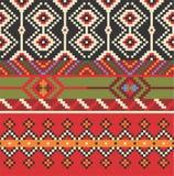 etniczny deseniowy bezszwowy Dekoracyjny ornament dla tkaniny, tkanina Fotografia Stock