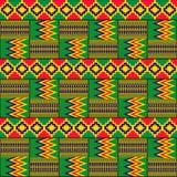 etniczny deseniowy bezszwowy Kente płótno Plemienny druk royalty ilustracja