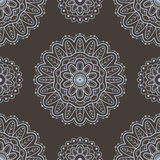 etniczny deseniowy bezszwowy Koronkowy deseniowy projekt Ręka Rysujący wektorowy tło Obrazy Royalty Free