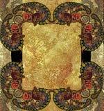 Etniczny geometryczny deseniowy granulacyjny złoty tło Zdjęcia Stock