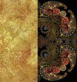 Etniczny geometryczny deseniowy granulacyjny złoty tło Zdjęcie Royalty Free