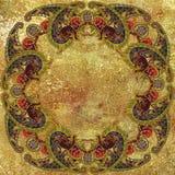 Etniczny geometryczny deseniowy granulacyjny złoty tło Obrazy Stock