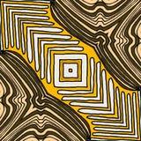 Etniczny Geometryczny Deseniowy projekt z yellowcolor ilustracja wektor