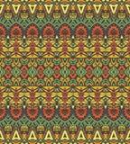 Etniczny geometryczny pasiasty bezszwowy plemienny wzór Zdjęcie Royalty Free