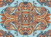 Etniczny horyzontalny autentyczny dekoracyjny Paisley ilustracja wektor