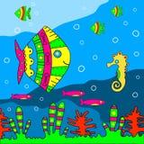 etniczny ilustracyjny dna morskiego stylu wektor Fotografia Stock