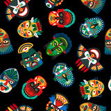 Etniczny kolorowy maskowy wzór ilustracji