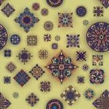 Etniczny kwiecisty mandala bezszwowy wzór Dekoracyjny kolorowy tło Zdjęcie Royalty Free