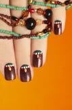 Etniczny manicure zdjęcie royalty free