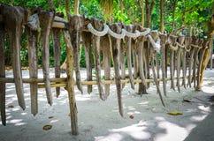 Etniczny ogrodzenie na James Bond wyspie, Tajlandia Obraz Royalty Free