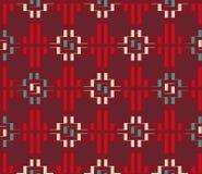 Etniczny ornament od prostokątów Fotografia Stock