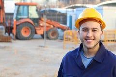 Etniczny pracownik budowlany z kopii przestrzenią obrazy royalty free