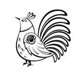 Etniczny ptak Rosyjski ornament Obrazy Royalty Free