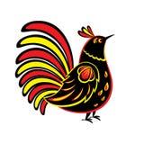 Etniczny ptak Rosyjski ornament Fotografia Royalty Free