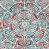Etniczny round wzór w peruvian stylu Projekt Ilustracji
