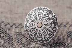 Etniczny srebro pierścionek Obrazy Royalty Free