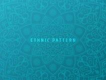 Etniczny wektorowy tło Rocznika mandala deseniowy projekt dla zaproszeń, karty Wschodni kwiecisty Orientalny ornament wewnątrz ilustracji