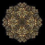 Etniczny wzór w złocie i czerń kolorach Zdjęcia Royalty Free