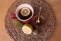 Etnika. Lemon tea with honey. Antioxidant drink. Food medicine background Royalty Free Stock Photos