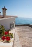 Etnika. Spain coast.Mediterranean. Europe. White house with sea view stock photos