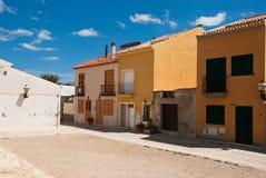 Etnika. Typical colored houses on Tabarka Spain.Mediterranean street stock image