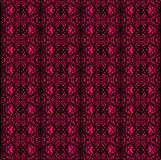 Etnisch abstract roze en zwart naadloos patroon voor textiel, keramische tegels of achtergronden royalty-vrije illustratie