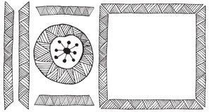 Etnisch Afrikaans met de hand gemaakt ornamentelement vector illustratie