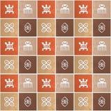 Etnisch Afrikaans patroon met Adinkra simbols stock foto's