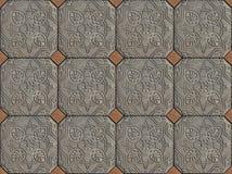 Etnisch Arabisch de tegelsontwerp van het ornamentenpatroon stock foto's