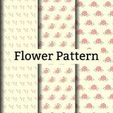 Etnisch bloemen naadloos patroon Stock Foto