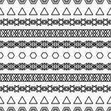 Etnisch boho naadloos patroon af:drukken Het herhalen van achtergrond Doekontwerp, behang Royalty-vrije Stock Afbeelding