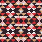 Etnisch boho naadloos patroon Borduurwerk op stof Lapwerktextuur weaving Traditioneel ornament Stammen patroon Klein ornament met vector illustratie