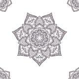 Etnisch boho naadloos-patroon, kleurend pagina'smalplaatje Vector IL Royalty-vrije Stock Fotografie