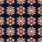 Etnisch boho naadloos patroon Retro motief Stock Fotografie