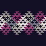 Etnisch boho naadloos patroon Traditioneel ornament Geometrische Achtergrond Stammen patroon Klein ornament met vierkanten Royalty-vrije Stock Afbeelding