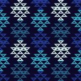 Etnisch boho naadloos patroon Traditioneel ornament Geometrische Achtergrond Stammen patroon Klein ornament met vierkanten Stock Afbeeldingen