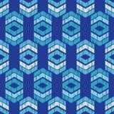 Etnisch boho naadloos patroon Traditioneel ornament Geometrische Achtergrond Stammen patroon Klein ornament met vierkanten Royalty-vrije Stock Fotografie