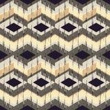 Etnisch boho naadloos patroon Traditioneel ornament Geometrische Achtergrond Stammen patroon Klein ornament met vierkanten Stock Fotografie
