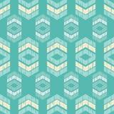 Etnisch boho naadloos patroon Traditioneel ornament Geometrische Achtergrond Stammen patroon Klein ornament met vierkanten Royalty-vrije Stock Foto