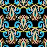 Etnisch borduurwerk kleurrijk vector naadloos patroon Royalty-vrije Stock Afbeelding