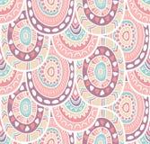 Etnisch decoratief inheems sier gestreept naadloos patroon in vector Eindeloze achtergrond in zachte kleuren royalty-vrije illustratie