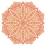 Etnisch decoratief ontwerpelement Kleurrijk vectormandalasymbool royalty-vrije illustratie