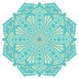 Etnisch decoratief ontwerpelement Kleurrijk vectormandalasymbool Stock Afbeelding