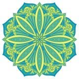 Etnisch decoratief ontwerpelement Kleurrijk vectormandalasymbool Stock Foto