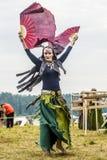 Etnisch Festival van Oude Cultuur Volksdansen in het Russische Dorp royalty-vrije stock fotografie