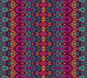Etnisch geometrisch gestreept naadloos stammenpatroon Royalty-vrije Stock Afbeelding